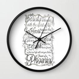 Phoenix Series, Poem in English (Part 2 0f 3) Wall Clock