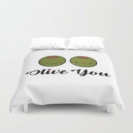 Olive You! Duvet Cover