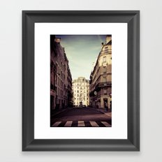 Parisian Side Street Framed Art Print