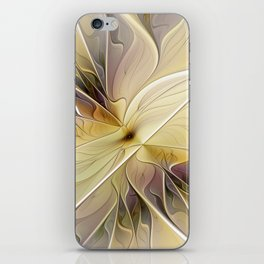 Floral Beauty, Abstract Fractal Art Flower iPhone Skin