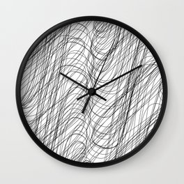 """""""Abstract Collection"""" - Abstract Lines Art Wall Clock"""