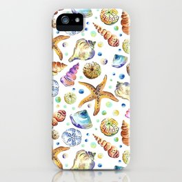 Starfish shell carnival iPhone Case