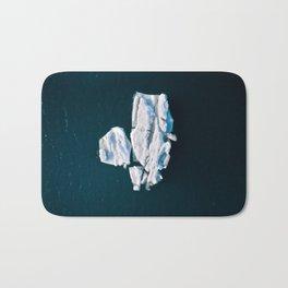Lone, minimalist Iceberg from above - Landscape Photography Bath Mat
