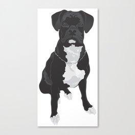 The Black & White Boxer Canvas Print