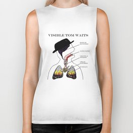 VISIBLE TOM WAITS Biker Tank