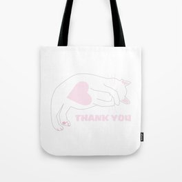 Thank you cat. Tote Bag