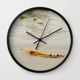 Summer Beach Seaweed Wall Clock