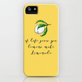 Lemon life iPhone Case
