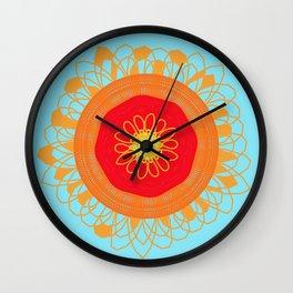 Asymmetrical Sunset Wall Clock