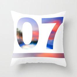07 Jersey Throw Pillow