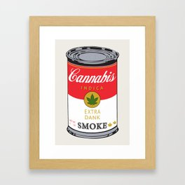 Campbell's Soup (Cannabis Indica) Framed Art Print