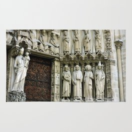 Notre Dame Cathedral Paris Detail Rug