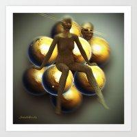 Golden globes  Art Print