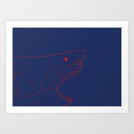 Blue Shark Art Print