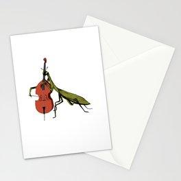 Praying Mantis Tries Cello Stationery Cards