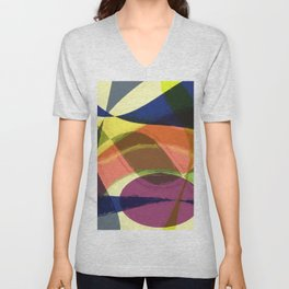 Abstract #465 Unisex V-Neck