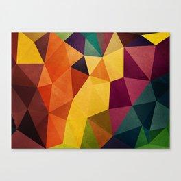 Color Poly Canvas Print