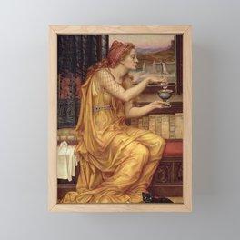 THE LOVE POTION - EVELYN DE MORGAN  Framed Mini Art Print