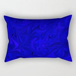 Cobalt Marble Pattern Rectangular Pillow
