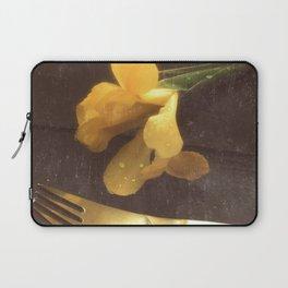 Flowers on Slate, variation 3 Laptop Sleeve