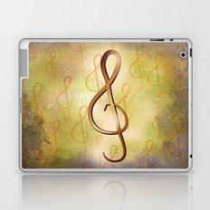 Treble Clef Music Symbol Laptop & iPad Skin