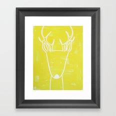 No. 0012 - Modern Kids and Nursery Art - The Deer Framed Art Print