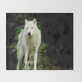 Grey Wolf Throw Blanket