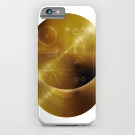Voyager Golden Record - B-Side White iPhone Case