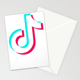 TikTok Logo Stationery Cards