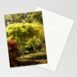 A Walk In The Woods Painting Stationery Cards