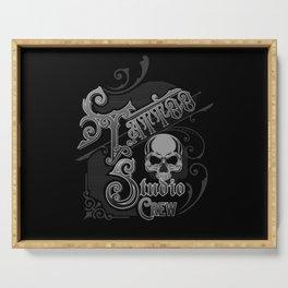 Vintage Skull Tattoo Studio Designs By InkedStar Serving Tray