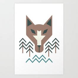 The Wolf For The Trees Art Print