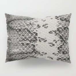Snake Skin in Grey and Black Pillow Sham