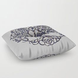 Tree of Life Silver Floor Pillow