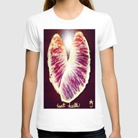 health T-shirts featuring Blood Red Orange Heart Health by ANoelleJay