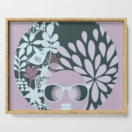 Afro Diva : Sophisticated Lady Pastel Serving Tray