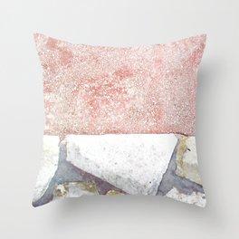 Abstract Pink Art Throw Pillow