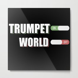 Trumpet Musician Musical Instrument Trumpeter Jazz Metal Print