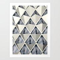 Smoky Diamond Art Print