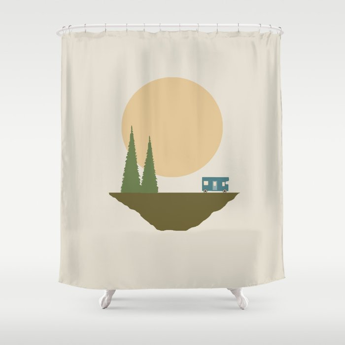 Sunny Day For Camping Shower Curtain