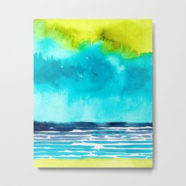 Abstract Watercolor Seascape I Metal Print