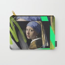 Girl With A Green Earring Carry-All Pouch