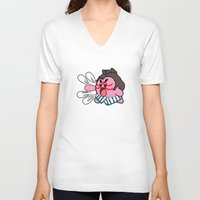 kirby V-neck T-shirts featuring E Kirby by cudatron
