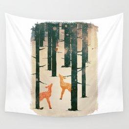 Winter Deer Wall Tapestry