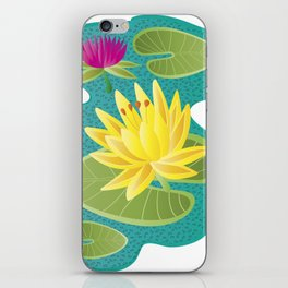 waterlilies iPhone Skin