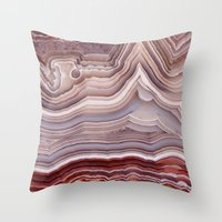 agate Throw Pillows featuring Agate Crystal by Santo Sagese