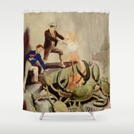 Giant crabs attack Shower Curtain