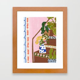 Bohemian stairs Framed Art Print