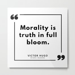 92   | Victor Hugo Quotes | 190830 Metal Print