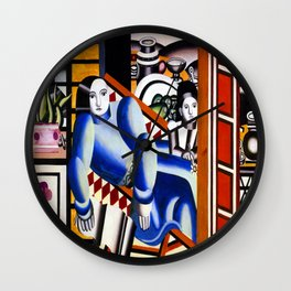 Fernand Leger Mother and Child Wall Clock